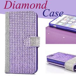 Iphone 6 6s Cases Cover 3D Handmade Shiny Bling Sparkle Glitter Diamond Rhinestone Vintage Design Premium Wallet Flip Cover CaSe SCA176