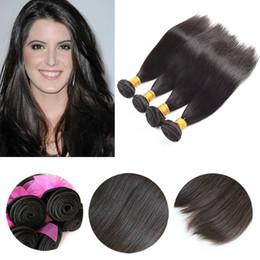Brunette Hairstyle 9A Virgin Peruvian Hair Wefts Unprocessed Brazilian Silky Straight Human Hair Weave Natural Color Full Head 4Pcs lot