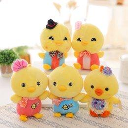 Wholesale 1pcs cm yellow chicken plush toys for children super cute chicken stuffed animal doll best birthday gift for kids