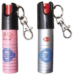 Wholesale 20pcs Key chain PEPPER SPRAY SELF DEFENSE ML Self defense equipment Women s anti wolf equipment