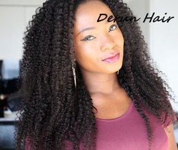 Wholesale 6A Brazilian Hair Bundles Hair Wefts Kinky Curly Hair Weaves Unprocessed Human Hair Extensions Accept Return