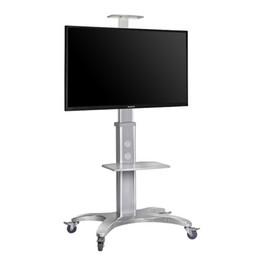 NB AVF1500-50-1P Aluminum Alloy 32~50 inch Moveable TV Trolley Flat Panel LED LCD Plasma TV Cart with AV shelf and Camera Holder