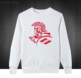 New FC Spartak Moscow Russian Logo Printed Sweatshirts Men Cotton Fashion Casual Loose Mens Clothing Hoodies Male Pullover