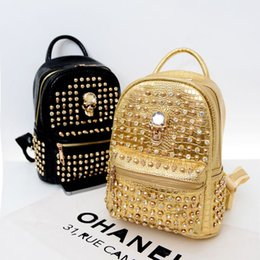 The new spring and summer 2015 female college wind bag backpack Hebei diamond skull bag factory wholesale