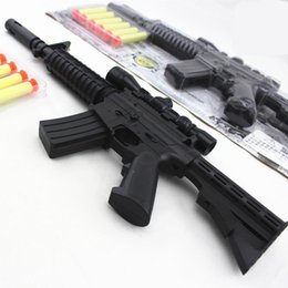 Wholesale New M4A1 assault rifle plastic nerf guns toy EVA Foam bullets Imitation for kids Safe sniper rifle toy Submachine gun SA187