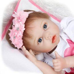 Muñecas del bjd en Línea-Regalos de silicona 55cm Vinilo bebé renacido muñecas hechas a mano de la princesa de los niños Juguetes para niños Bebe Bjd bebé reborn Bonecas muñeca del niño del bebé