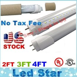 Wholesale Stock In US ft led t8 tubes Light W W W mm Led Fluorescent Lamp Replace Light Tube AC V UL FCC