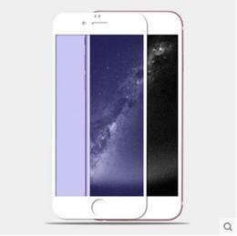 Plaque d'écran en Ligne-Pour Iphone 5 6s 6 6plus couleur plaquage verre trempé miroir coloré avant et arrière écran protecteur cellphone film coloré