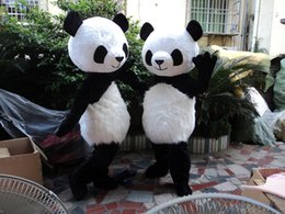 Hot sale Professional PANDA BEAR Mascot Costume Adult Size (black long plush ) EMS free shipping