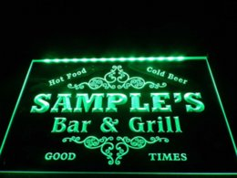 Wholesale DZ058 Name Personalized Custom Family Bar amp Grill Beer Home Gift LED Neon Light Sign