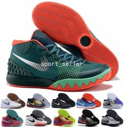 Wholesale 2017 Kyrie Irving Mens Basketball Shoes Kyrie s Men Retro Dream Deceptive Red Christmas Outdoor Sneakers Trainers High Quality Size