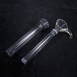 2017 Manufacture cheap Glass female slide and Male Stem with black rubber simple downstem for water pipe glass bongs free shipping