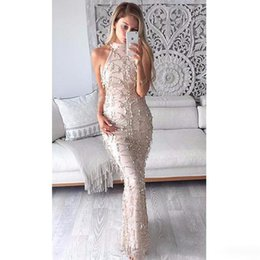 Wholesale Summer Sequin Maxi Dress New Sexy Women Party Evening Gowns Formal Cocktail Party Dresses Long Beach Club Dress
