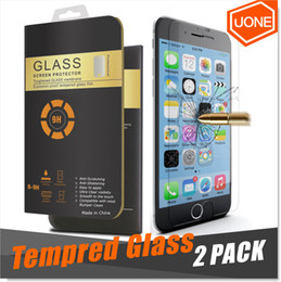 For iPhone X 8 7 S7 2 Packs Screen Protector iPhone 6 6s Plus Tempered Glass For Samsung Note 5 3D Touch Compatible 0.26mm 2.5D Rounded Edge