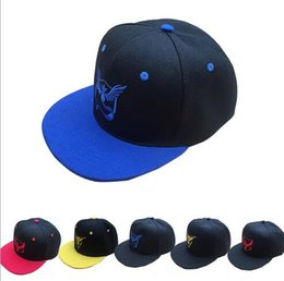 Wholesale 2016 Hot POKE Go Games adjustable ball caps unisex Pocket Monster baseball caps Fall Fairy print Instinct Pokeba hats Mix order