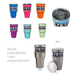 Wholesale Colorful OZ YETI Rambler Tumbler Cup Vehicle Travel Drink Cups Yeti Stainless Steel Cooler Travel Mugs Pink Blue Purple Orange Light Green