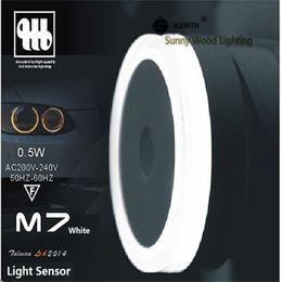 0.5W 65mm round 200-240Vac LED light sensor Socket night lamp ,brightness detect automatical wall lamp