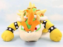 EMS Newest Super Mario plush toys 10inch Koopa Bowser dragon plush doll Brothers Bowser JR soft Plush 25cm toys B