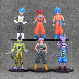 6 styles Anime Dragon ball Son Goku Trunks Vegeta Frieza PVC Action Figure Model toy free shipping EMS