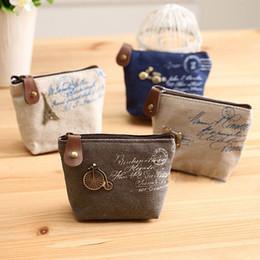 Wholesale Cute Mini Wallets Keys - Cheap Leisure canvas colour clutch Cartoon key Earphone Cards bag Cute mini girl coin purse small Ladies wallet women bag 5050