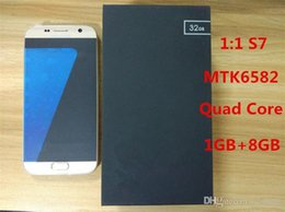 Wholesale Metal S7 GB RAM G Network Quad Core MTK6582 Dual Camera Android System DHL