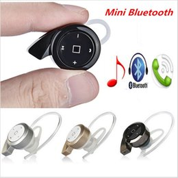 Wholesale 2016 Mini A8 Bluetooth V4 In Ear Earbuds Super Small Snail Shape Wireless Earphones Multi point Music Mobile Phone Earphones
