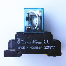 Wholesale new coil power relay pin NO NC LY2N J VDC A DPDT with base Warranty for Two Years