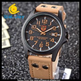 Wholesale WJ SOKI attractive brand hours with calendar high quality leather sport men watch Cheap watches software