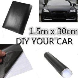 Wholesale 150x30cm Matt Matte Black Car Auto Body Sticker Decal Self Adhesive Wrapping Vinyl Wrap Sheet Film