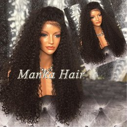 8A Glueless Full Lace Human Hair Wigs Brazilian Kinky Curly Front Lace Wigs Lace Front Human Hair Wigs For Black Women