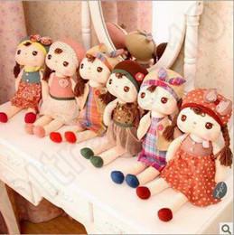 Descuento muñecas de la muchacha 6 Estilos 40 centímetros de peluche relleno muñeca de peluche de juguete Metoo Ángela muñecas de dibujos animados muñeca de regalo de Navidad Metoo peluches CCA4966 30pcs