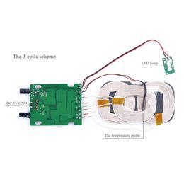3 bobinas Qi cargador inalámbrico USB micro Portard bobina de carga inalámbrica de bricolaje tarjeta de circuitos accesorios al por mayor PCBA Con Qi Párese desde venta al por mayor de pie bordo proveedores