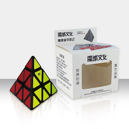 Pyramid Shape Magic Cube Ultra-smooth Speed Magic Cube 3 Colors White Black Primary Options Special Puzzle DIY Educational Toy for Chidren