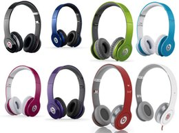 Wholesale Refurbished Used Beats MONSTER SOLO HD Best Quality with ControlTalk Color High Definition on ear Wired Headphones dj headset DHL Free