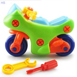 Wholesale New Children Baby Diy Motorcycle Model Toy Puzzle Educational Toy Kids Gift
