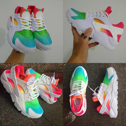 Wholesale 2016 New Air Huarache Ultra Running Shoes Huaraches Rainbow Ultra Breathe Shoes Men And Women Huraches balck white Multicolor Kids shoes