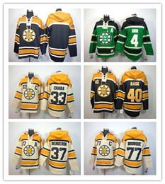Wholesale Stitched Boston Bruin Hoody Patrice Berger ZDENO CHARA Black Green Cream Hockey Jerseys Ice Jersey do Drop Shipping Mix Order