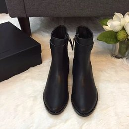 Wholesale Topest quality ankle boots web celebrity and stars best love special design cowskin with fhshskin vamp sheepskin inside rubber tread luxury