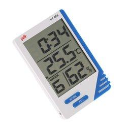 Wholesale Electronic New Weather Station in Digital Temperature Humidity Meter Tester Clock Humidity Hygrometer Thermometer H1813