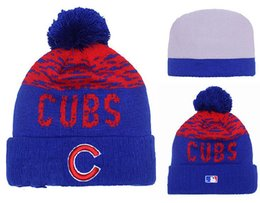 Wholesale New Chicago Cubs Pom Beanies Hotselling Sport Team Knitted Skullies Authentic Brand Winter Hats
