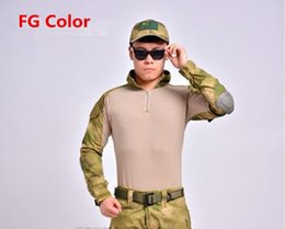 Wholesale Tactical USMC Combat Military Operational T Shirt W Removable Elbow pad For Field game Airsoft Paintball Hunting Uniform