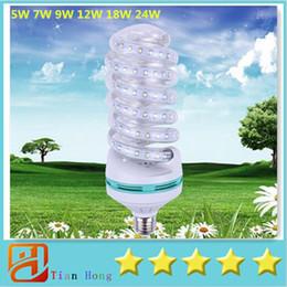 Promotion e27 ce smd Ampoule de maïs Led E27 SMD 2835 Lampe Lampada E27 Puissance d'économie d'énergie Led Lumières de maïs 5W 7W 9W 12W 18W 24W 220V CE + UL
