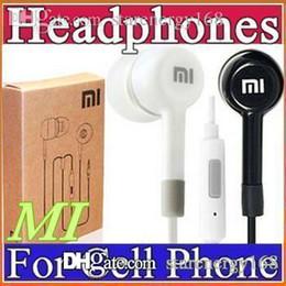 3.5mm Smart Phones Earphone xiaomi In-Ear Earphone headphone With Mic and Remote headphone white black with retail box I-EM