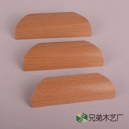 Wholesale Pitch MM hand in hand with the European and American beech handle pumped solid wood cabinet drawer handle door handle