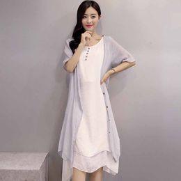 Ladies Womens Lagenlook Boho Sleeveless Thin Wide Flared Maxi Midi Dress Italian Linen Cotton Plus Size Women clothing