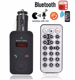 New Wireless Bluetooth V3.0 FM Transmitter LED Modulator Handsfree Car Kit MP3 Player USB Charger for Music Phone Remote Controll