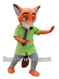 Wholesale 2016 new Zootopia Nick wilde clothing and hopps mascot Judy cartoon mascot costum