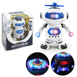 Wholesale Factory promotion price Space Dancing Humanoid Robot Toy With Light Children Pet Brinquedos Eletronicos Jouets Electronique for Boy Kid