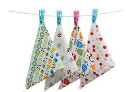 Wholesale Cartoon Deck - 2016 Pretty Baby Organic Cotton double-deck button Kids Baby Bibs Towel Bandanas Triangle Burp Saliva Infant Toddler Bandana Scarf 3