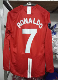 Retro jersey UCL 2008-09 Ronaldo home red long-sleeved shirt